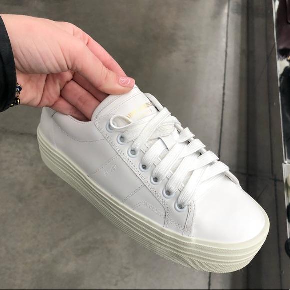13b27f4d901 Saint Laurent platform sneaker white